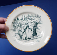 Load image into Gallery viewer, 1920s Royal Doulton Daily Mirror Pip, Squeak & Wilfred Side Plate. 6 1/2 inches diameter. EXTREMELY RARE