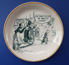 Load image into Gallery viewer, 1920s Royal Doulton Daily Mirror Pip, Squeak & Wilfred Saucer. EXTREMELY RARE