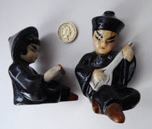 Load image into Gallery viewer, 1950s Vintage Cruet Set. Sweet Little Ceramic Chinese Man and Girl Salt and Pepper Pots