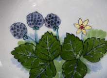 Load image into Gallery viewer, Large SCOTTISH Vintage WILD BERRIES Design Serving Bowl with Lug Handles by Highland Stoneware. Hand Decorated (A)