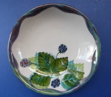 Load image into Gallery viewer, SCOTTISH Vintage WILD BERRIES Design Shallow Bowl by Highland Stoneware, Scotland. Hand-Decorated