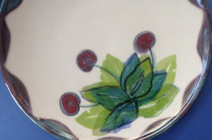 Vintage SCOTTISH WILD BERRIES Design Side Plate by Highland Stoneware. Hand Decorated