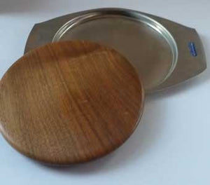 Vintage  1960s Bramah Teak and Stainless Steel Chopping Board