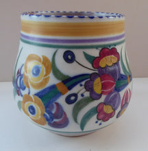 Load image into Gallery viewer, Early 1930s Art Deco Poole CARTER, STABLER & ADAMS Pottery Fuchsia Pattern Bowl