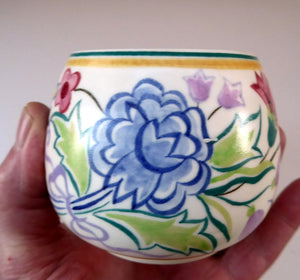 Early 1950s POOLE Pottery Floral Pattern Decorative Small Bowl