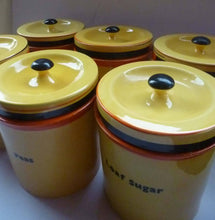 Load image into Gallery viewer, Extremely Rare  and Decorative Large Art Deco Carlton Ware Storage Jars: LOAF SUGAR