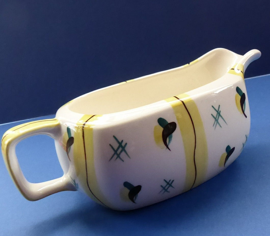 1950s MIDWINTER Gravy Boat or Jug. Collectable FIESTA PATTERN. Designed by Jessie Tait in 1953