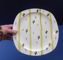 Load image into Gallery viewer, 1950s MIDWINTER Square Dinner Plates. Collectable FIESTA PATTERN. Designed by Jessie Tait in 1953