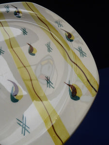 1950s MIDWINTER Square Dessert Plates. Collectable FIESTA PATTERN. Designed by Jessie Tait in 1953