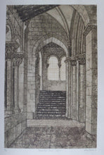 Load image into Gallery viewer, Listed Artist. Valerie Thornton (1931 - 1991). Romanesque Church, Segovia. Etching & Aquatint. Signed and dated 1979