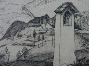 ORIGINAL Line Engraving by Robert Sargent Austin. Cadore. Pencil signed and dated 1926