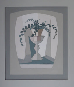 Grosvenor School Interest. Original Painting by Listed Scottish Artist: Alison McKenzie (1907 - 1982). Abstract Still Life
