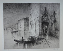 Load image into Gallery viewer, 1920s Original Etching by Sydney Mackenzie Litten (1887 - 1949). The Betrothal, Venice