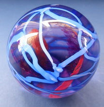 Load image into Gallery viewer, LARGE Vintage SCOTTISH Caithness Glass Paperweight: Vibrance by  Alastair MacIntosh, 1989