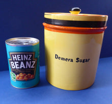 Load image into Gallery viewer, Extremely Rare  and Decorative Large Art Deco Carlton Ware Storage Jars: DEMERARA SUGAR