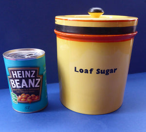 Extremely Rare  and Decorative Large Art Deco Carlton Ware Storage Jars: LOAF SUGAR