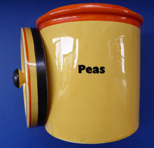 Load image into Gallery viewer, Extremely Rare  and Decorative Large Art Deco Carlton Ware Storage Jars: PEAS