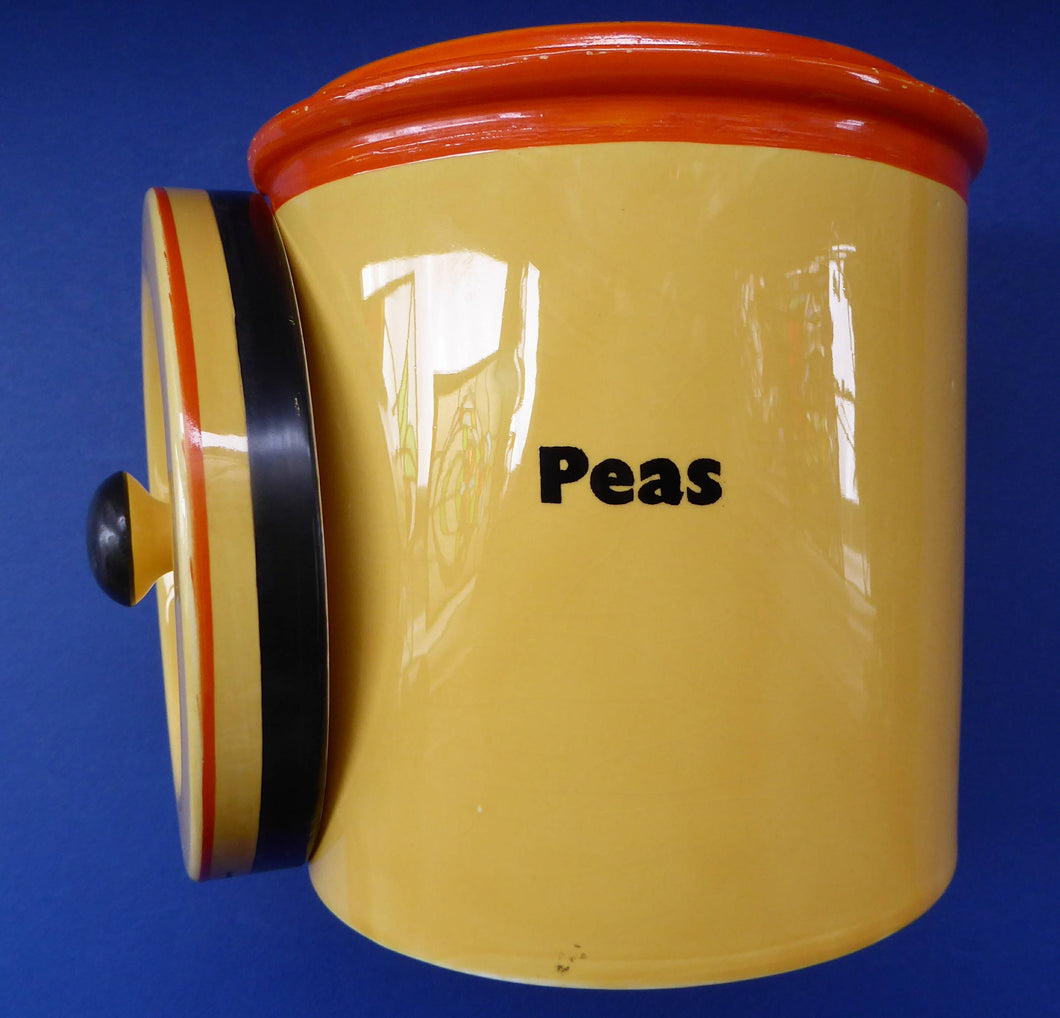 Extremely Rare  and Decorative Large Art Deco Carlton Ware Storage Jars: PEAS
