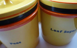 Extremely Rare  and Decorative Large Art Deco Carlton Ware Storage Jars: CURRANTS