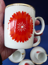 Load image into Gallery viewer, For SPARES: Vintage 1960s THOMAS ROSENTHAL Orange Flower Power Cup & Saucer. Five Available