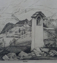 Load image into Gallery viewer, ORIGINAL Line Engraving by Robert Sargent Austin. Cadore. Pencil signed and dated 1926