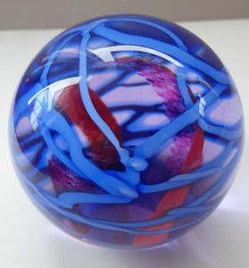 LARGE Vintage SCOTTISH Caithness Glass Paperweight: Vibrance by  Alastair MacIntosh, 1989