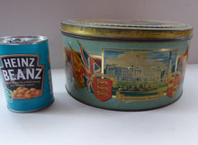 Load image into Gallery viewer, HUGE Vintage 1930s Co-op Commemorative CORONATION  Biscuit Tin for George VI and Queen Elizabeth