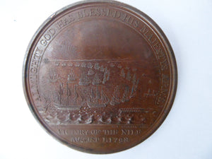 NELSON MEDAL. Extremely Rare Commemorative Bronze Davison Medal for the Battle of the Nile, 1798