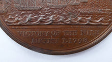 Load image into Gallery viewer, NELSON MEDAL. Extremely Rare Commemorative Bronze Davison Medal for the Battle of the Nile, 1798