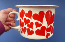 Load image into Gallery viewer, GUSTAVSBERG, Sweden. Rare 1960s Massive Oversized Cup with Red Love Hearts Decoration