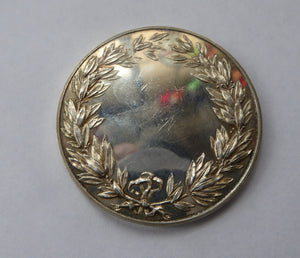 1950s Royal Horticultural Society Silver Medal / Medallion.  NO INSCRIPTIONS and in Excellent Condition