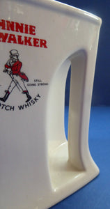 1950s Wade JOHNNIE WALKER Whisky Advertising Jug. Very Quirky Shape with Handle Built into the Main Body Section