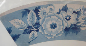 ORIGINAL GEORGIAN Watercolour.  RARE Early 19th Century Grisaille Floral Designs for Plate Border Decorations: D