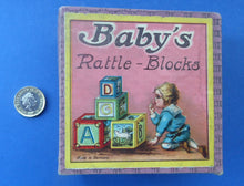 Load image into Gallery viewer, Antique Victorian 1900 Wooden Baby's Rattle Blocks Puzzle Game. Made in Germany