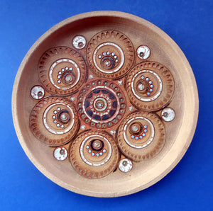 1960s STUDIO POTTERY. Rare Large Newlyn Harbour Pottery Dish or Flat Bowl by Dennis Lane (Cornwall)