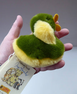 STEIFF Soft Toy Duck. COSY STARLY. 1990s Issue No. 091322. With all tags & in pristine condition