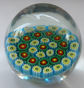 GENUINE Fratelli Toso MURANO Millefiori Carpet Paperweight. 1960s with Original Toso Label. Excellent Condition