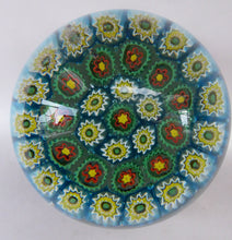 Load image into Gallery viewer, GENUINE Fratelli Toso MURANO Millefiori Carpet Paperweight. 1960s with Original Toso Label. Excellent Condition
