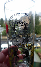 Load image into Gallery viewer, Five 1960s RAVENSHEAD Slim Jim Drinking Glasses. Little Miss Muffet Design by Alexander Hardie-Williamson