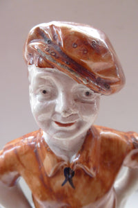 SCOTTISH POTTERY: 1920s Figurine of Wee Macgregor in Football Strip. Britannia Pottery, Glasgow