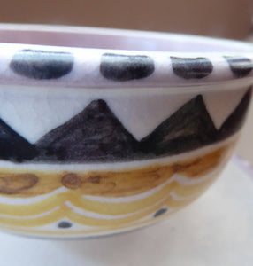 POOLE 1920s Carter, Stabler and Adams Small Footed Bowl or Grapefruit Dish. Rare ABSTRACT Pattern
