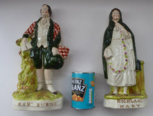 Load image into Gallery viewer, Robert BURNS and HIGHLAND MARY. Large Pair of Antique Victorian Staffordshire Flatback Figurines. Over 13 inches