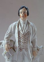 Load image into Gallery viewer, ROBERT BURNS. Large  Antique Victorian Staffordshire Flatback Figurine of the Celebrated Scottish Poet. 13 1/4 inches