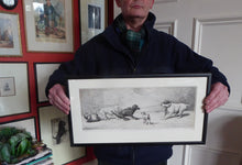 Load image into Gallery viewer, SATIRICAL PRINT. Original Tug of War Engraving by F. Mansell after the painting by Harding Cox; 1899