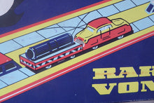 Load image into Gallery viewer, Vintage HUNGARIAN Wind-Up Tin Plate Toy. RAKODO VONAT. Train on Track Carrying Cargo Goods