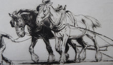 Load image into Gallery viewer, Original Etching by GEORGE SOPER (1870 - 1942). Harrowing, 1919. Signed in Pencil