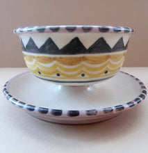 Load image into Gallery viewer, POOLE 1920s Carter, Stabler and Adams Small Footed Bowl or Grapefruit Dish. Rare ABSTRACT Pattern