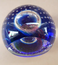 Load image into Gallery viewer, Fine SCOTTISH PAPERWEIGHT. Limited Edition by Caithness Glass with Bubble Inclusion and Faceted Window Panel