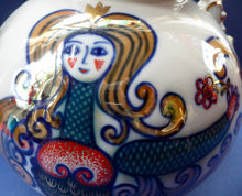 Load image into Gallery viewer, 1970s SOVIET Porcelain Teapot by Korosten. LARGE Model with Images of Exotic Russian Mermaids All Around