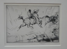 "Load image into Gallery viewer, Edmund Blampied (1886 - 1966)   ""Splashing Through the Surf"", 1923  Drypoint on paper; Pencil signed"